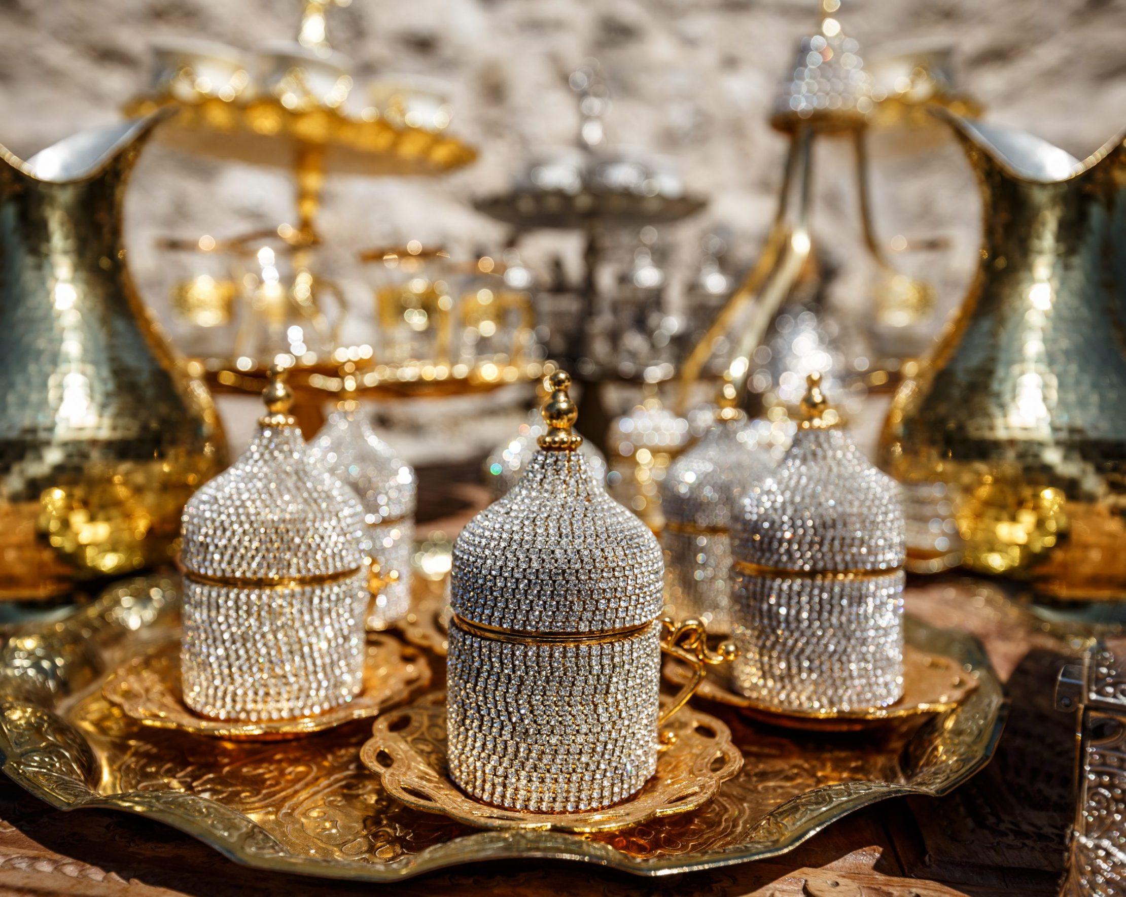 Ornamental Turkish coffee set
