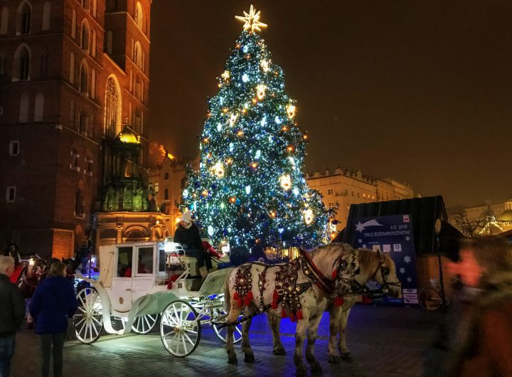 Magical Christmas time in Krakow, Poland