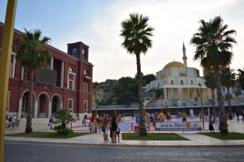 A square in Durrës, Albania
