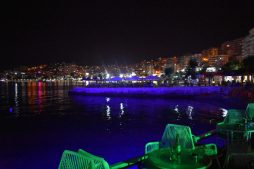 Is Albania safe? Bars in Saranda, Albania, by night