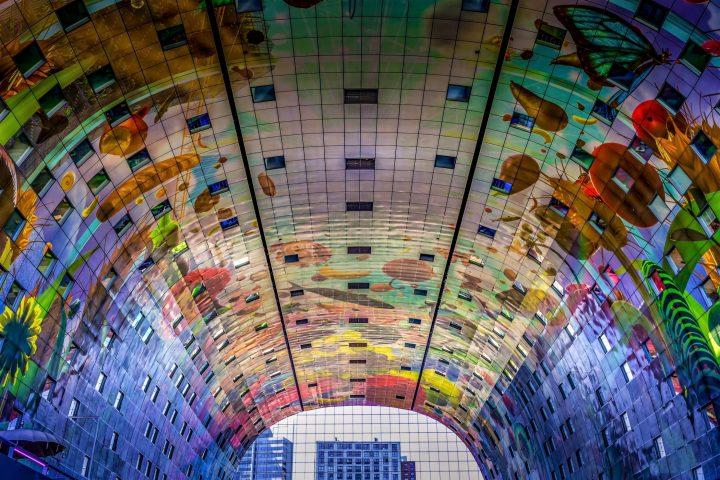 Fascinating Market Hall in Rotterdam