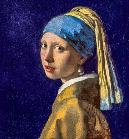 Chica con el pendiente de perla de J. Vermeer