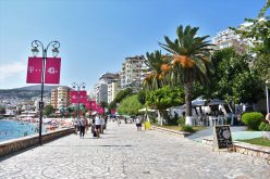 Is it safe to travel to Albania? Pretty promenade in Saranda, Albania