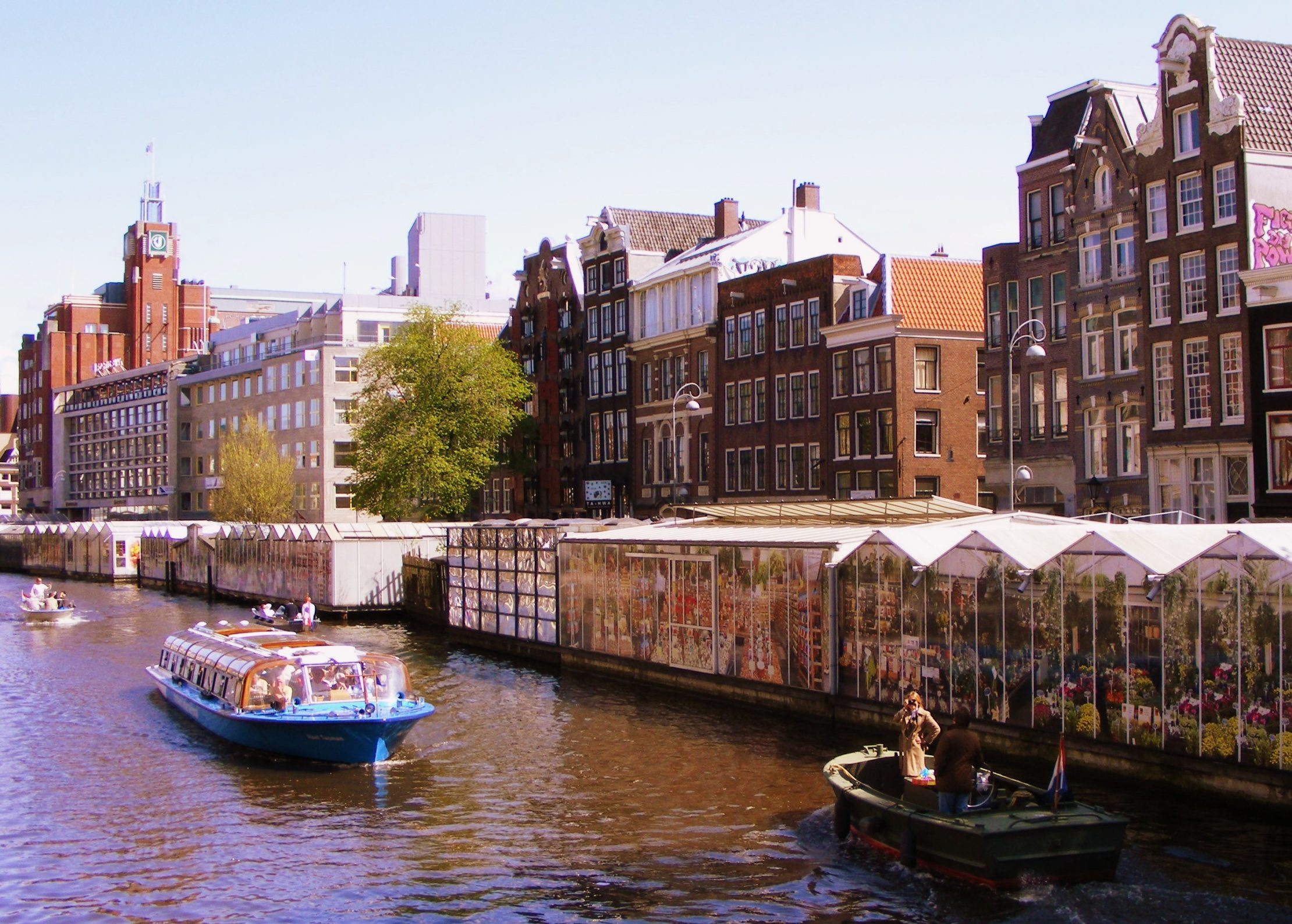 Floating flower market in Amsterdam
