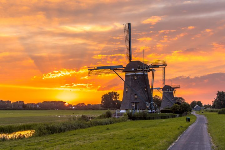Windmills - typical Dutch countryside