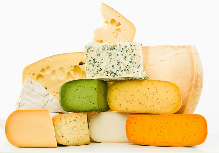 A selection of Dutch cheeses