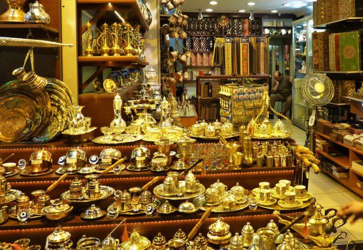 In Grand Bazaar in Istanbul
