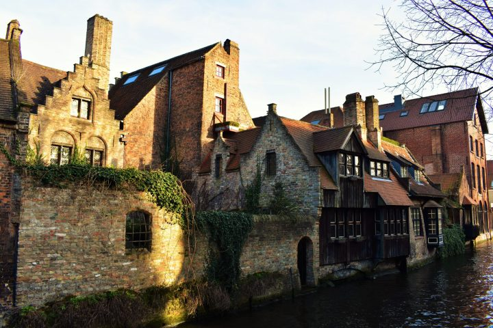 View from Bonifacius Bridge in Bruges