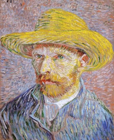 Vincent Van Gogh - Self-Portrait with Straw Hat, 1887