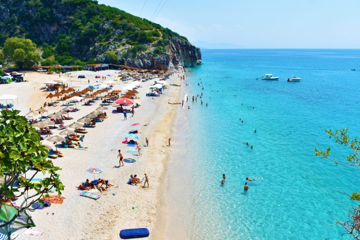 Best beaches in Albania - Gjipe beach, Albania