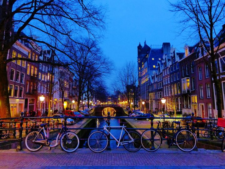 Biking around in Amsterdam