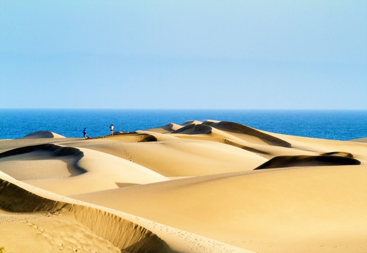 Fascinating desert landscape of the beach in Maspalomas in Gran Canaria - one of the best beaches in Spain