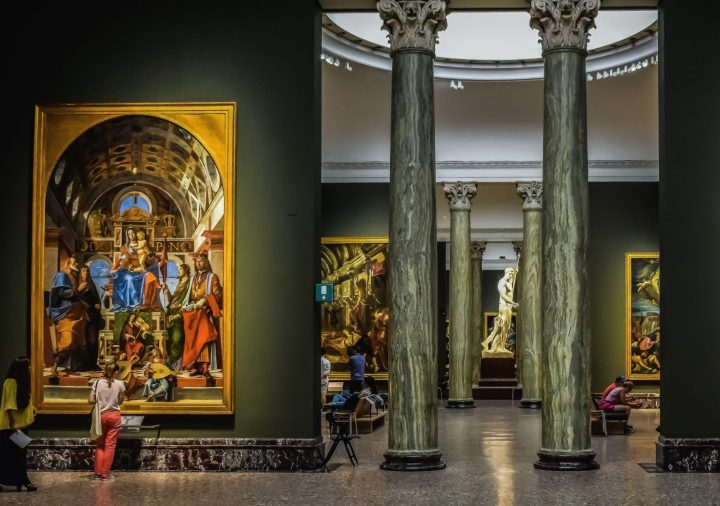 Painting collections of Pinacoteca di Brera - The Art Gallery of Brera in Milan, Italy