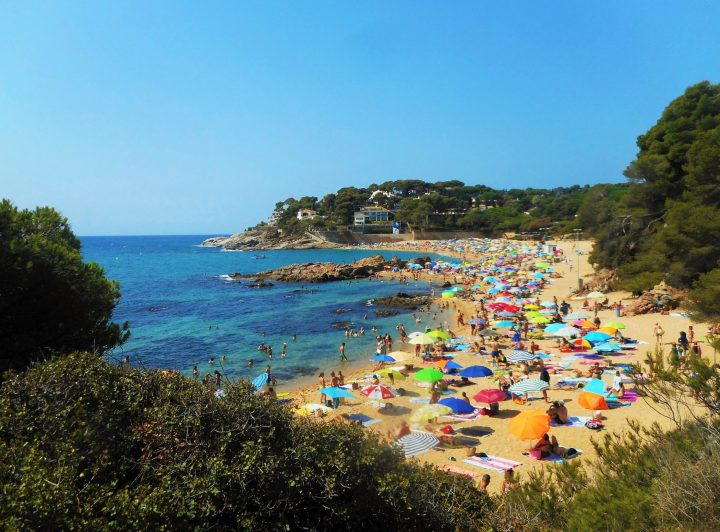 Sa Conca - even if very crowded in August, it's one of the best beaches in Costa Brava