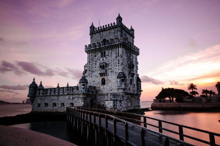 Beautiful Torre de Belem is one of Lisbon's most famous landmarks