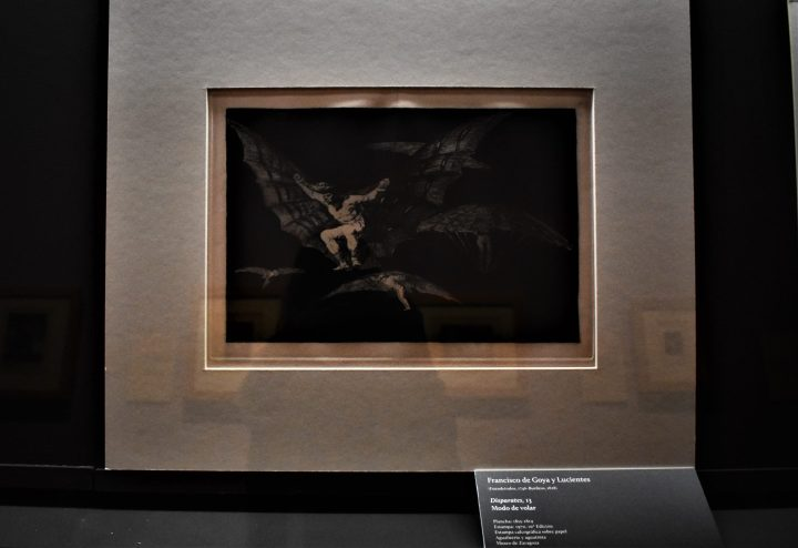 Imaginative sketch by Francisco de Goya in Zaragoza City Museum