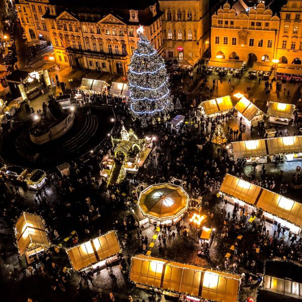 Christmas markets in Prague in Czech Republic