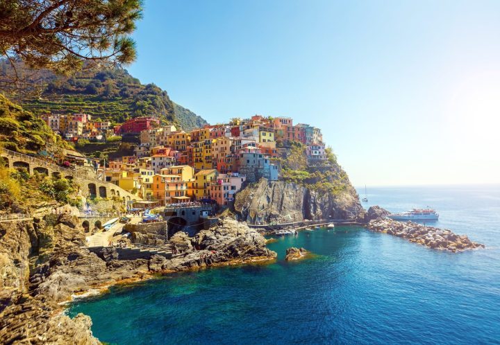 Manarola - one of the 5 enchanting villages of Cinque Terre in Italy
