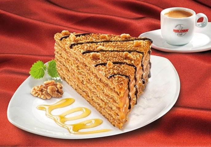 Marlenka® honey & walnuts cake - photo courtesy of www.marlenka.cz