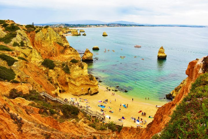 Spectacular view over Praia do Camilo and the coastline of Lagos, Portugal