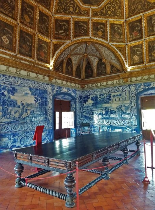Splendid Blazons Hall in the National Palace of Sintra certainly has a 'wow' effect
