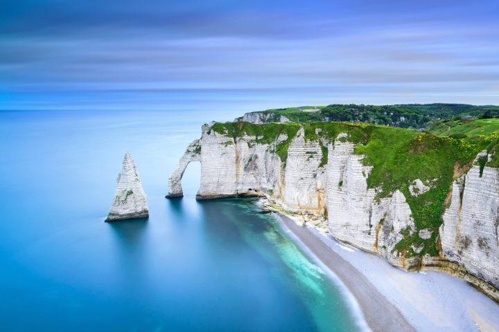 Captivating beauty of Etretat Aval cliff - Normandy, northern France