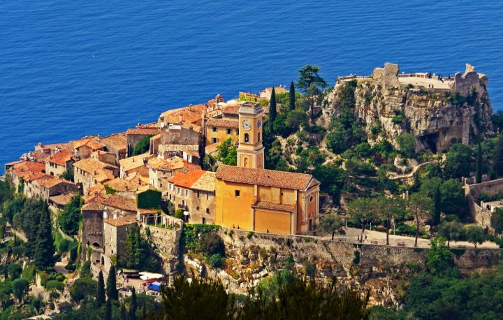 Lovely Èze - one of colourful sunny villages of Côte d'Azur, France