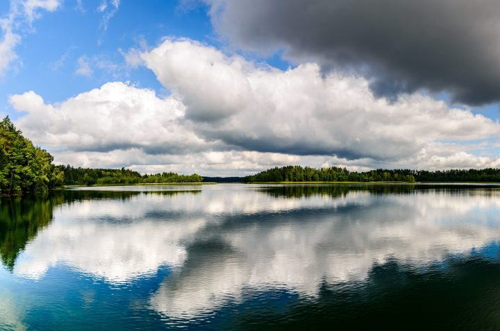 Sailors paradise - one of the thousands of lakes in the Masuria region in Poland