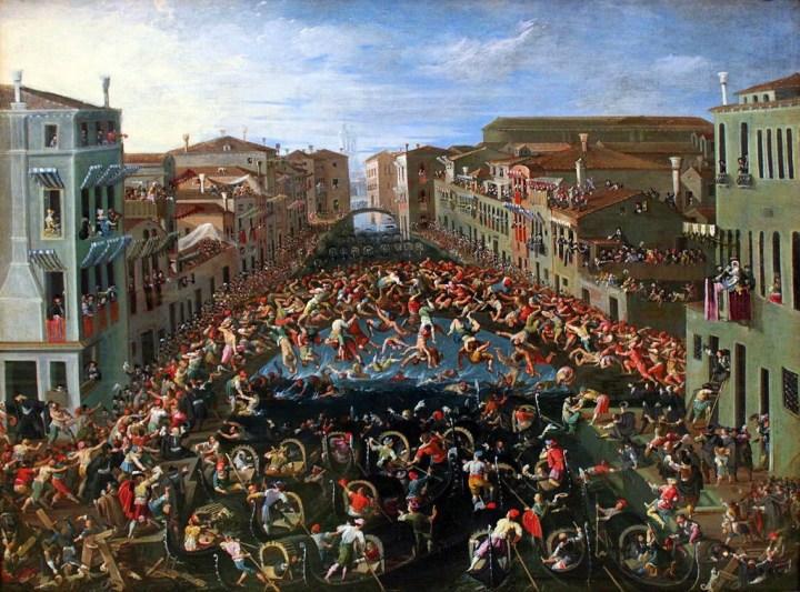 Joseph Heintz - Competition on the Ponte dei Pugni in Venice - 1673
