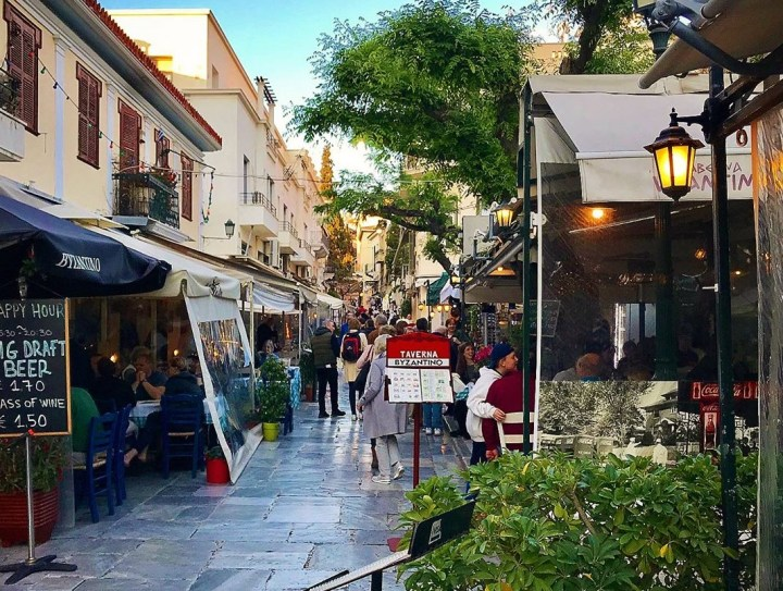 What and where to eat in Athens - Plaka in Athens is a great place to sit, eat and watch people