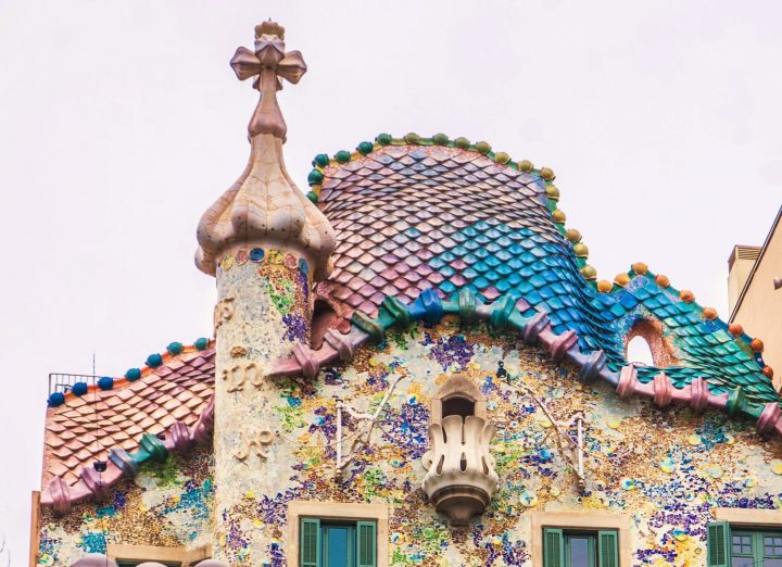 Dragon's back - the playful roof of Casa Batlló, Barcelona