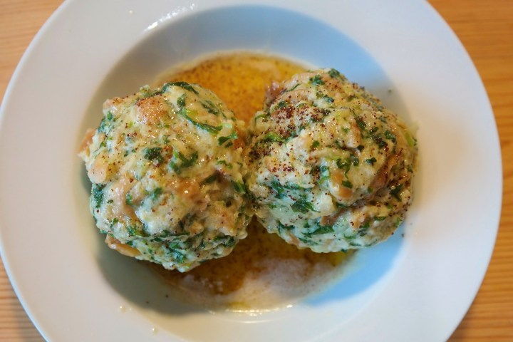 Dumplings tipicos de Austria y Centro Europa