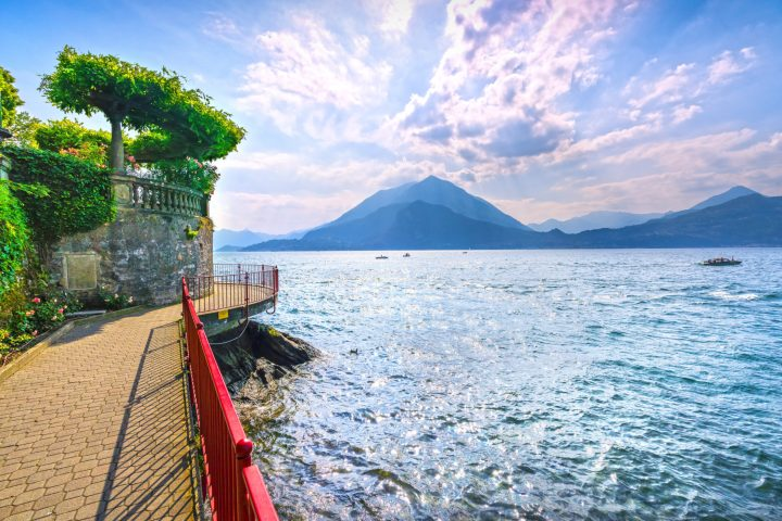 Walk of Lovers in Varenna at Como Lake, northern Italy