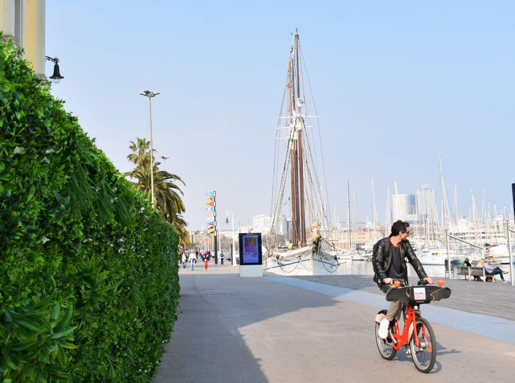 Cycling in Barcelona is pure visual pleasure