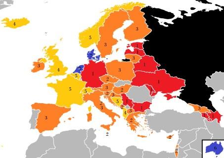 Les votes du public pour la Russie