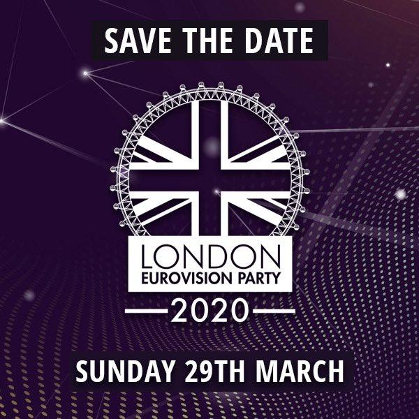 London Eurovision Party 2020 : date et lieu (Mise à jour : report sine die)