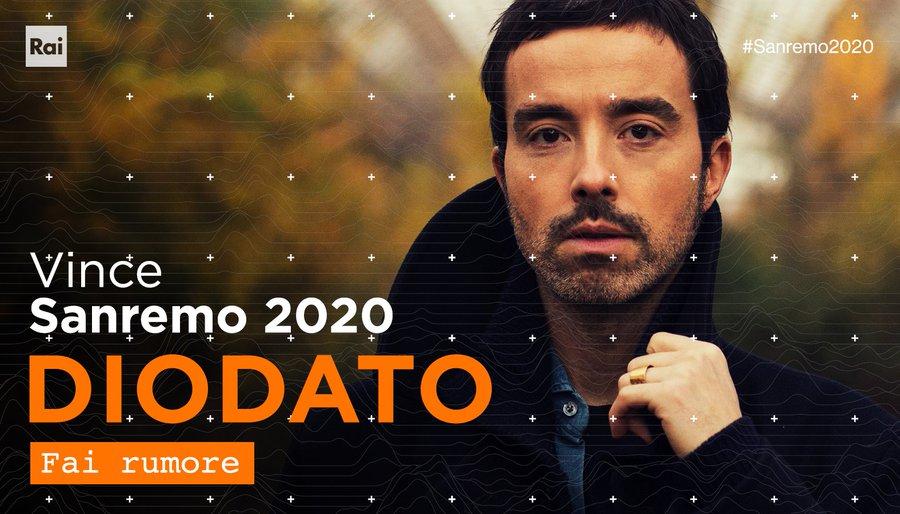 Italie 2020 : Diodato pour Rotterdam !