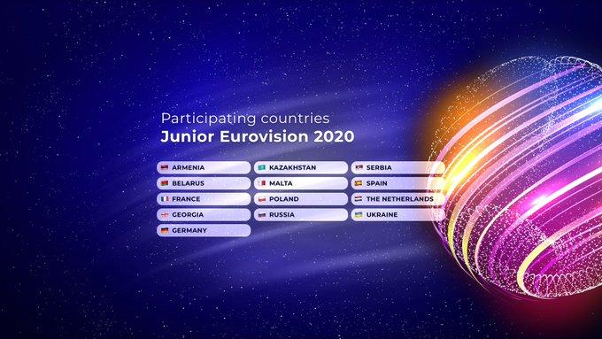 Eurovision Junior 2020 : treize participants (Mise à jour : déclaration de l'UER)