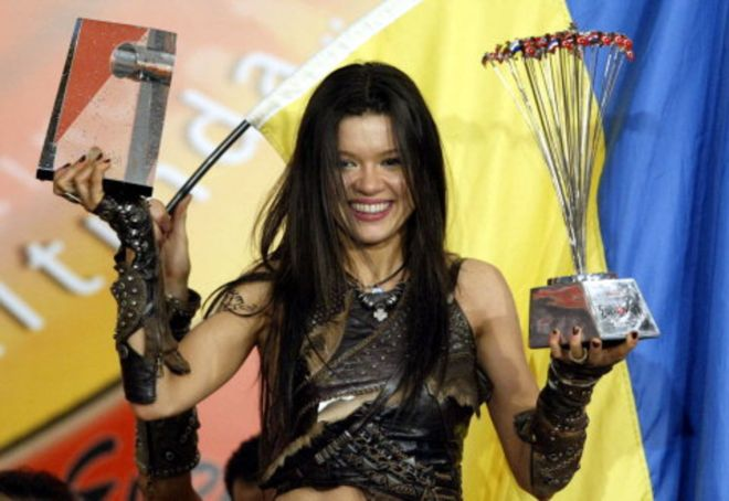 Ruslana, the winner of Eurovision 2004.