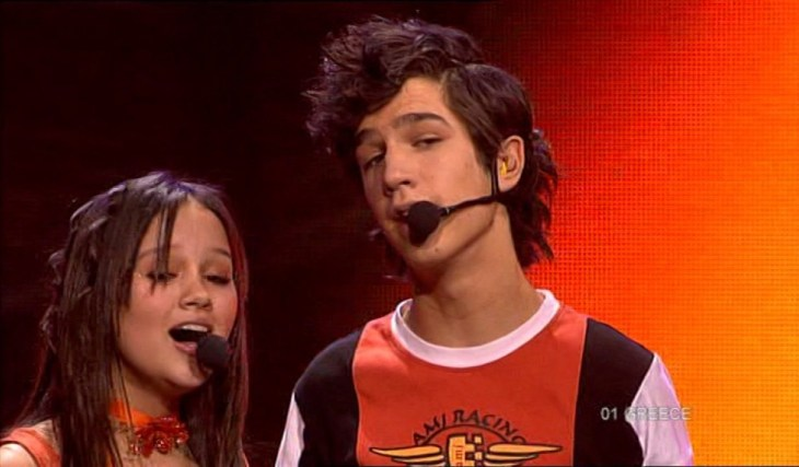 Greece Junior Eurovision 2005. Image source: junioreurovision.tv YouTube