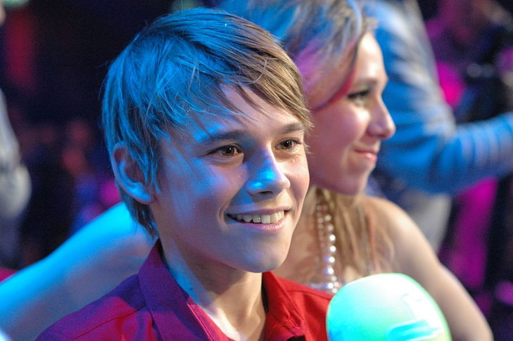 Fabian, Junior Eurovision Belgium 2012. Image source: Okras