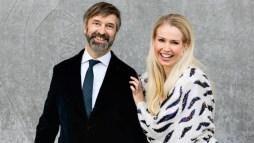 Hosts, Dansk Melodi Grand Prix, Martin Brygmann and Tina Müller, Image Source: Betina Garcia / DR