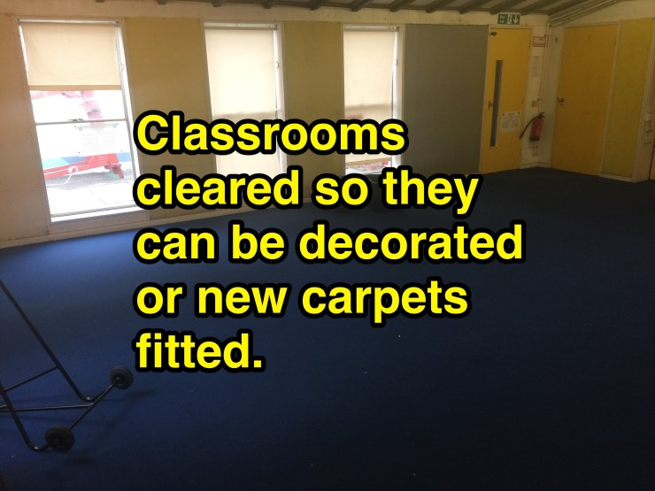 school removals, a cleared classroom removal