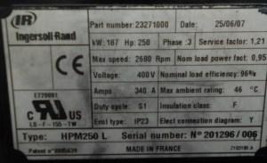 Sew Eurodrive Motor Nameplate  impremedia