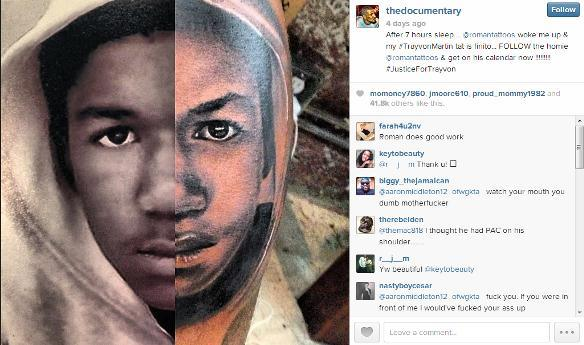 The Game Gets A Trayvon Martin Tattoo On His Leg