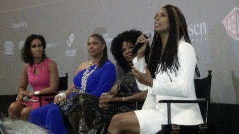 "Panel discussion after world premiere of ""Boxed In"". Directed by Tasha Smith."