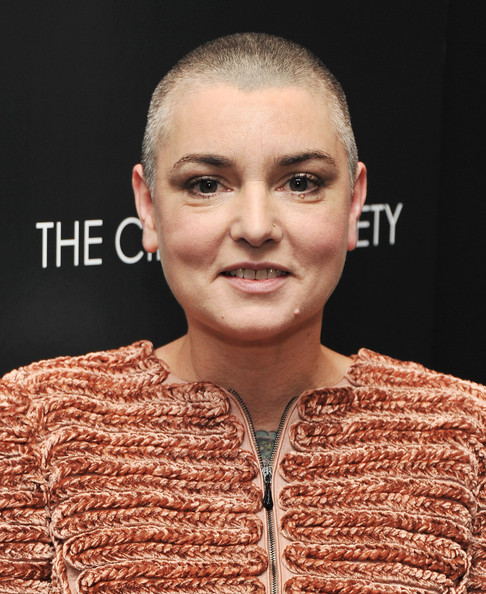 """Singer Sinead O'Connor attends the Giorgio Armani & Cinema Society screening of """"Albert Nobbs"""" at the Museum of Modern Art on December 13, 2011 in New York City."""