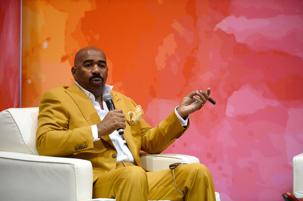 Television personality and host Steve Harvey speaks at the State Farm Color Full Lives Art Gallery during the 2016 State Farm Neighborhood Awards at Mandalay Bay Resort and Casino on July 22, 2016 in Las Vegas, Nevada.
