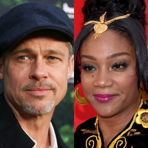 Brad Pitt and Tiffany Haddish (Getty Images)