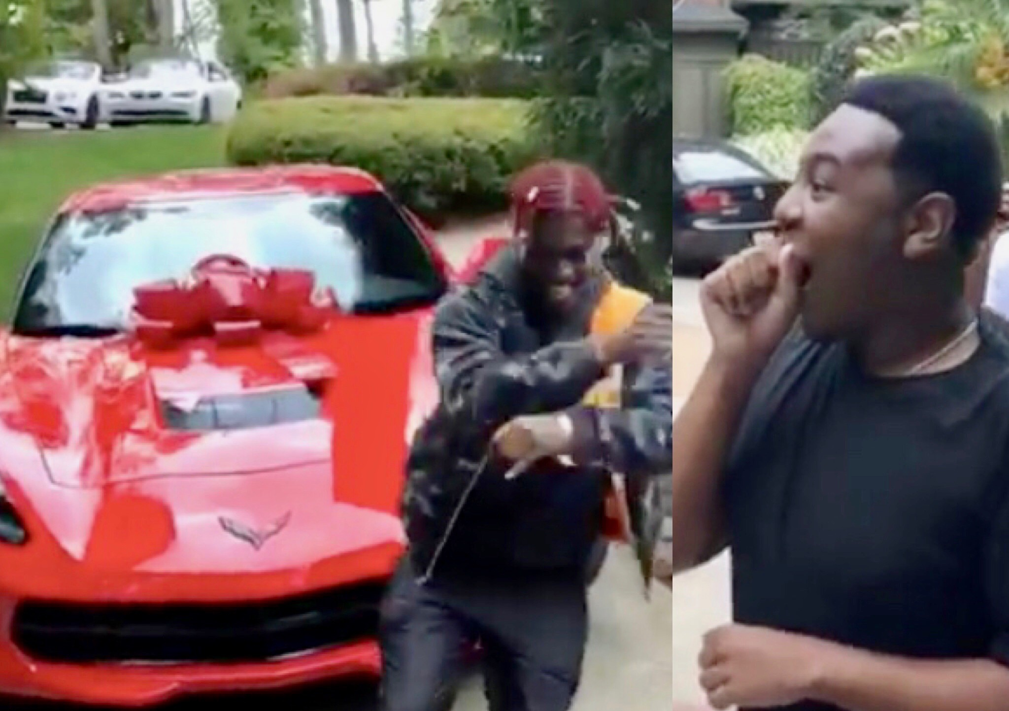 Watch Lil Yachty Give His Best Friend a New Corvette for His